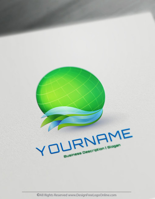 Create Your Own Eco Green Globe Logo Using 3D Logo Maker