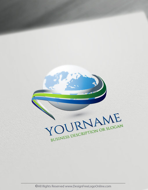 Create a 3D Logo For Free – Path Globe Logo Templates
