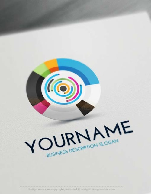 Design Your Own Free 3D Target Logo Template
