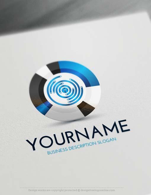 00101 3D logos design free 3D target logo maker online