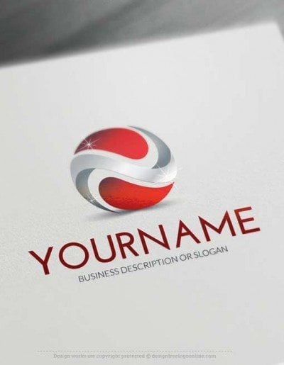 3D company logo design free logo online Template