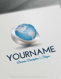 Design Free Logo Online: 3D Globe Online Logo Templates