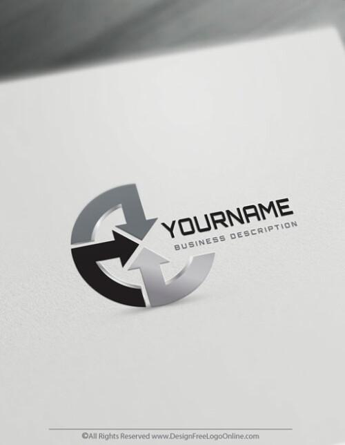 Online Arrows Logo Templates