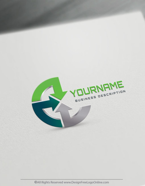 Online finance Arrows Logo Templates