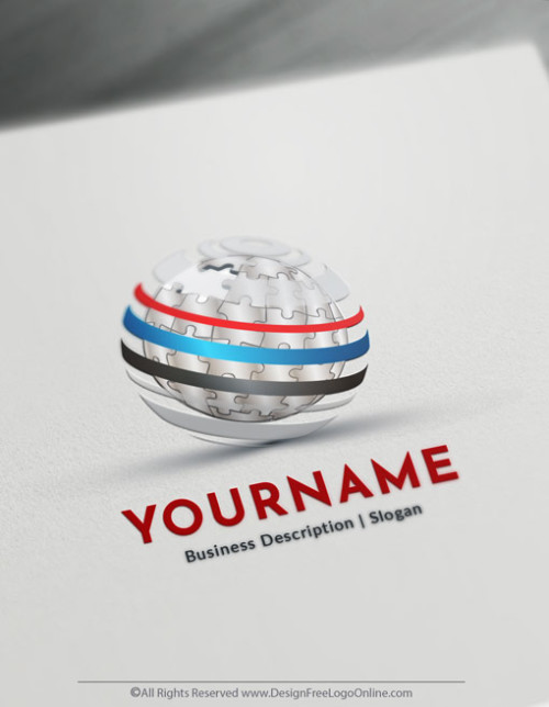 Design Your Own 3D Puzzle Globe Logo