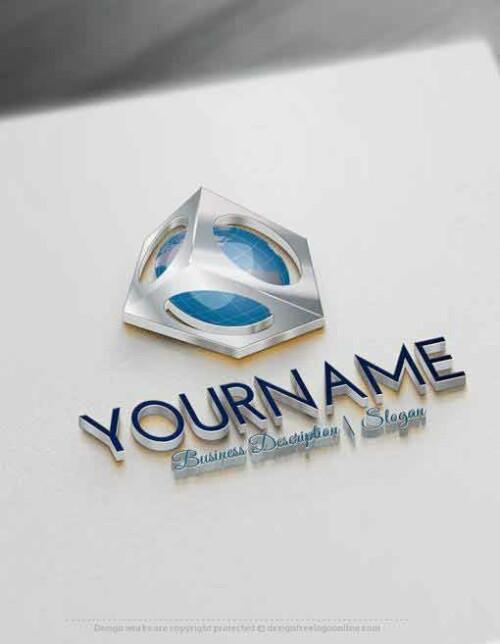 Design Free Logo: 3D Globe online Logo Template
