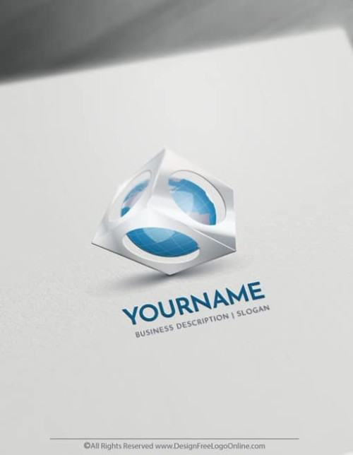 Create a 3D Logo For Free - Globe Logo Templates