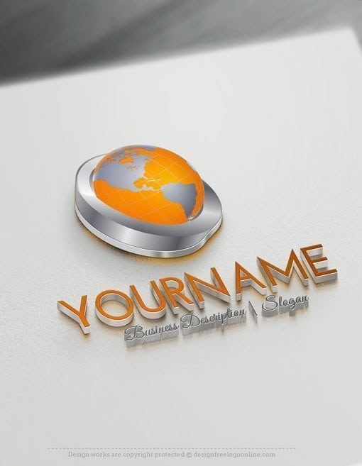 Design-Free-3D-Globe-Online-Logo-Templates