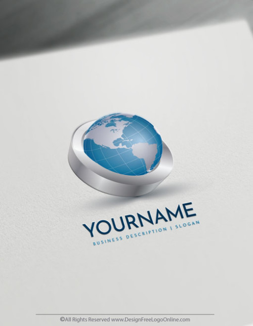 Design Free 3D Logo Online - 3D Globe Logo Templates