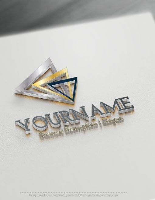Design Free Logo: Abstract Triangles Online Logo Template