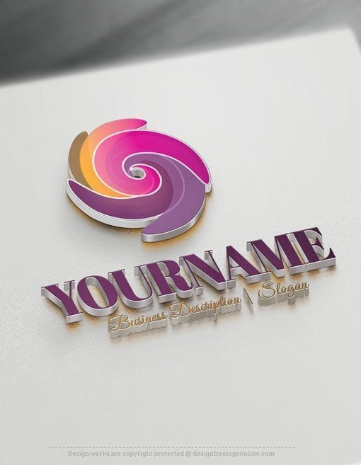 Design Free Logo Online: Spiral Online Logo Template