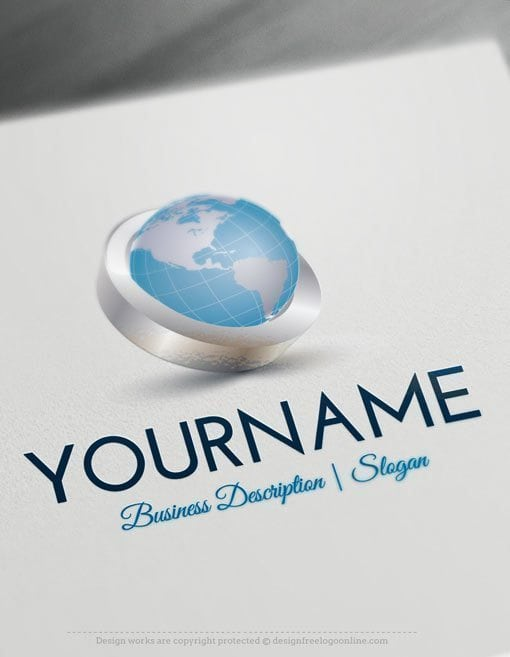 Design Free Logo 3d Globe Online Logo Templates