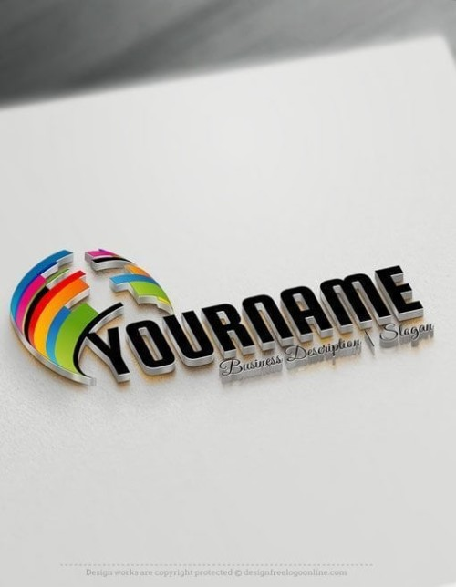 Design-Free-Logo-Abstract-3D-Logo-Template