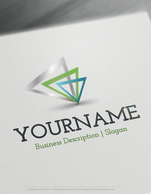 design free logo  abstract triangles online logo template