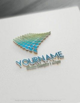 Customize digital Online Logo Template with our free logo maker software. Ready made digital Online Logo Template with flowing modern dots.