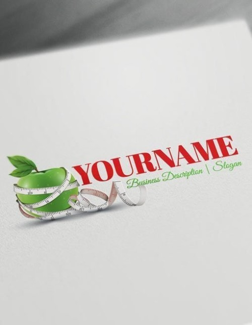Design-Free-Logo-Apple-Diet-Online-Logo-Template