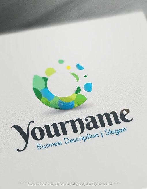 Design-Free-Logo-Art-Dots-Online-Logo-Template