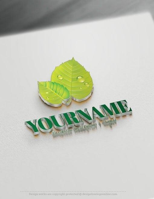 Design-Free-Logo-Green-leaves-Online-Logo-Template