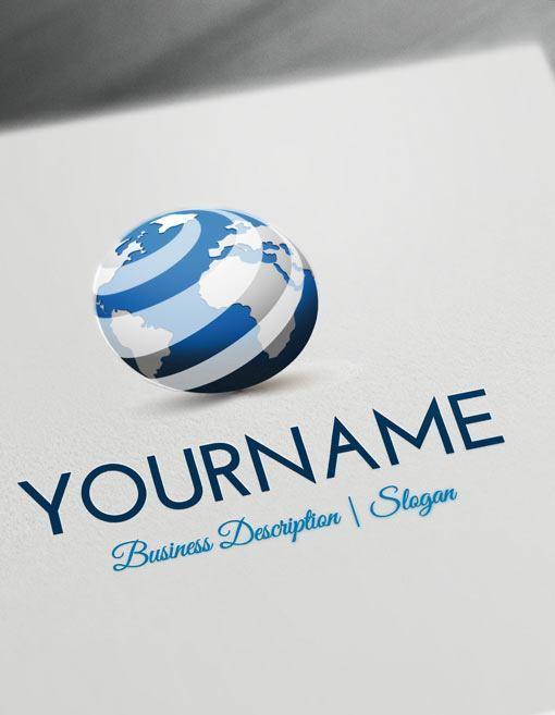 Design-Free-Logo-Online-3D-Globe-Logo-Template