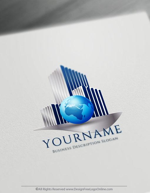 International Real Estate Logo Design