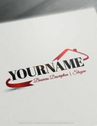 Design Free Logo: Real Estate House Template logo