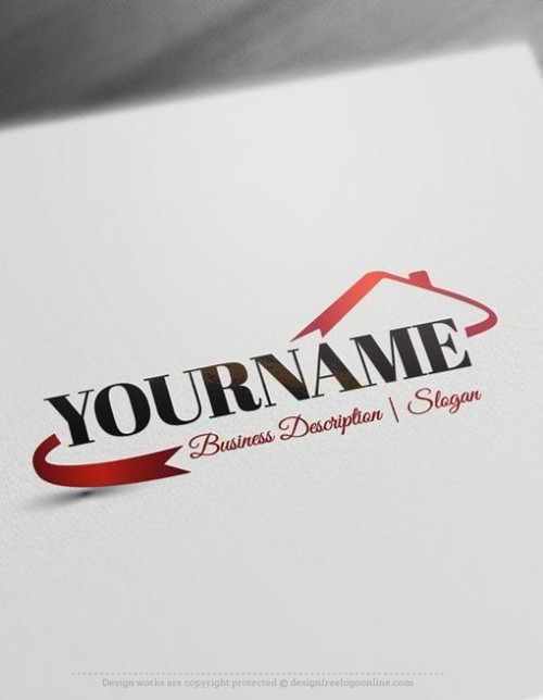 Design Free Logo: Real Estate House Template logo