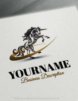 Customize this Unicorn online Logo Template brand yourself with our free logo designer. Create your own logos without graphic designer skills