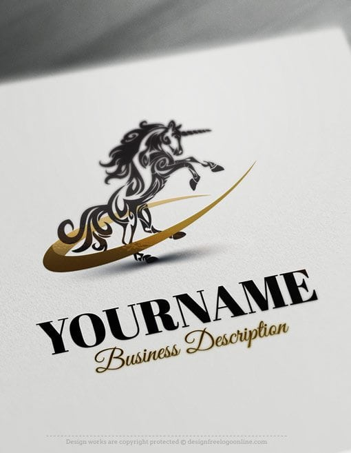 Design free logo create your own unicorn online logo template for Draw your own logo free
