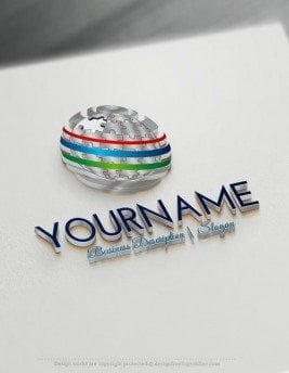 Design-Free-Online-3D-Puzzle-Globe-Logo-Template