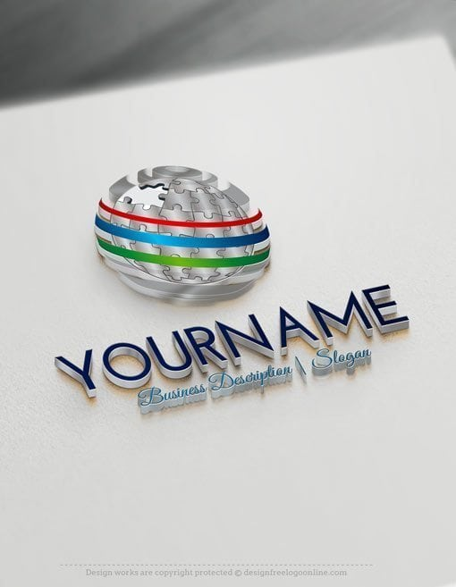 Design-Free-Online-3D-Puzzle-Globe-Logo-Template