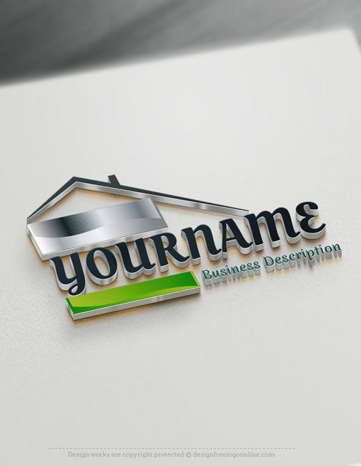 Design free logo online real estate logo for Companies housse