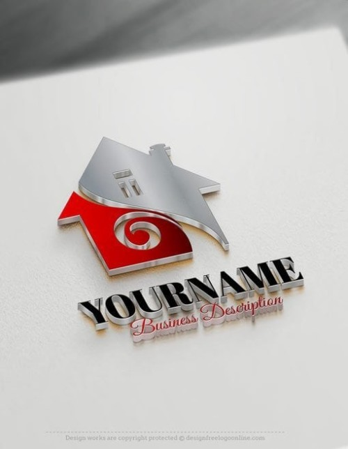 ... Easily customize this House Real Estate logo Template yourself with our free logo maker. Make