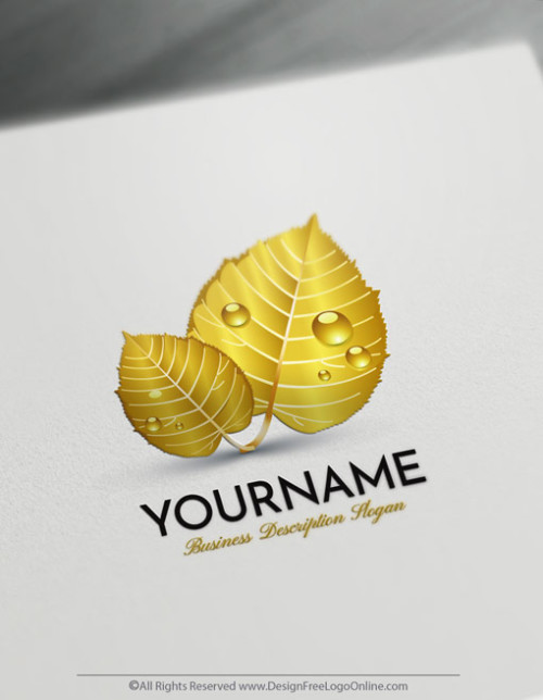 Design Your Own Gold Leaf Logo Maker Online