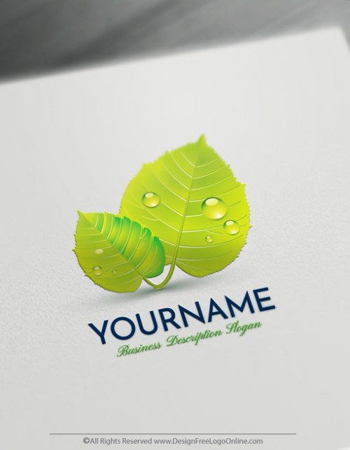 Design Your Own Green Leaf Logo - Eco Logo Maker Online