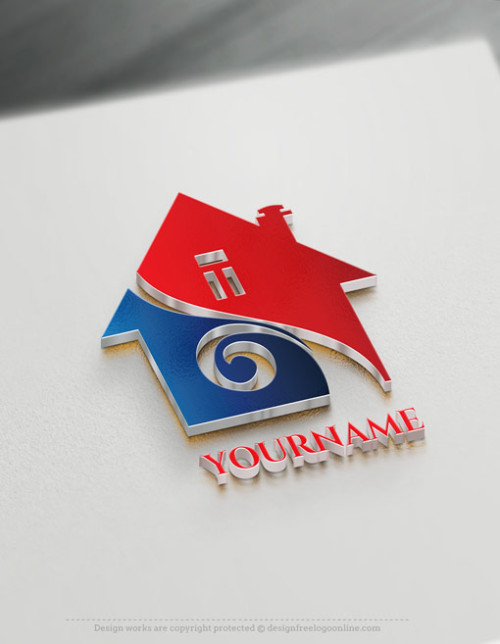Design a Real Estate logo using House logo Template