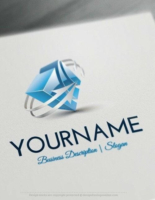 Online-3D-Cube-arrow-Logo