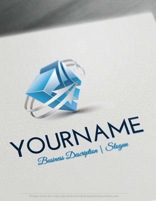 Los mejores dise os de logotipos 3d gratuitos for Create logo online free 3d