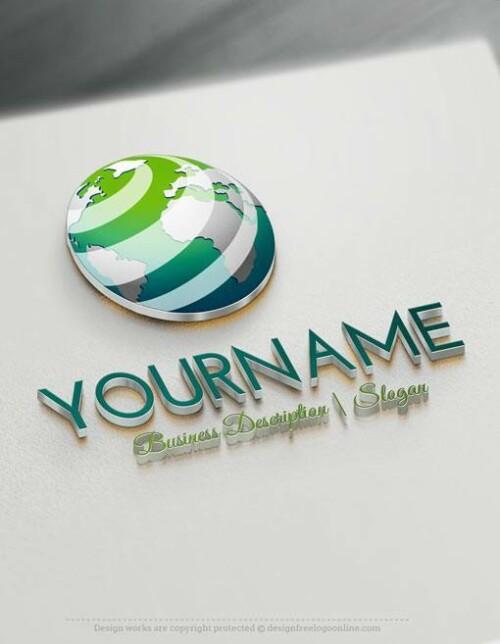 Online 3D Globe Logo Templates