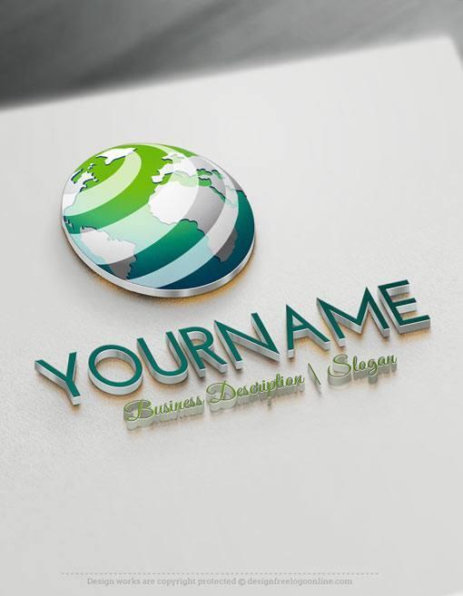 Online-3D-Globe-Logo-Templates