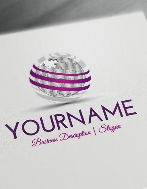 Online-3D-Puzzle-Globe-Logo