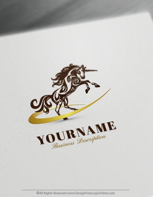 Online Gold Unicorn Logo Templates