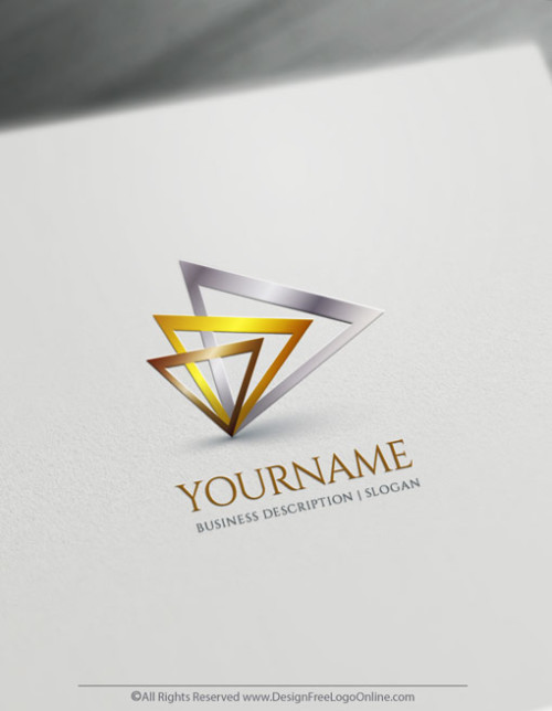 Cool Triangle Logo maker