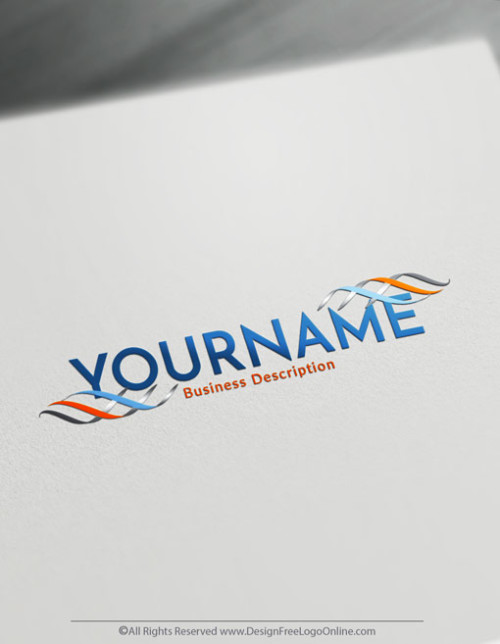 Abstract lines logo maker