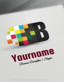 Design Free Logo: Digital Art Logo Template