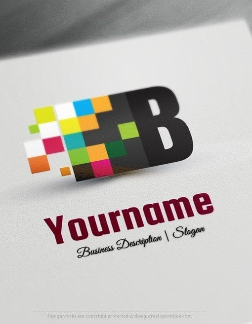 Design Free Logo Online: Digital Art Logo Template