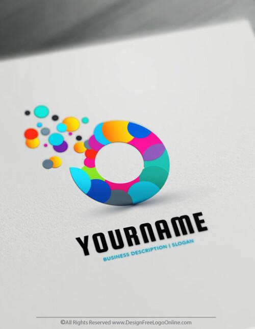 Online Art Logo Maker - colorful Art Bubbles Online Logo Template