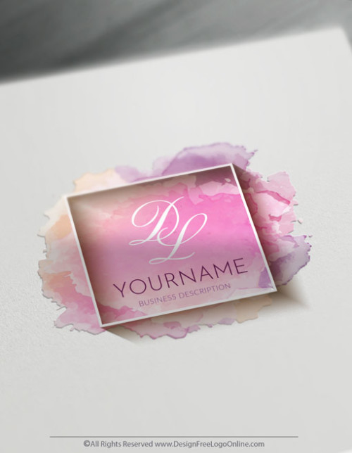 Easily design a Pink Watercolor Logo with Free Art Logo Maker.