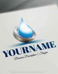 Design Free Logo: Water Drop Online Logo Template