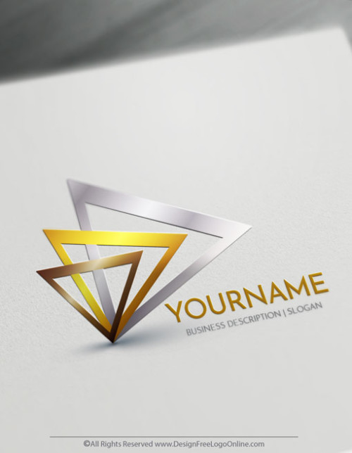Create Cool Logo Ideas with Gold Triangle Logo Templates