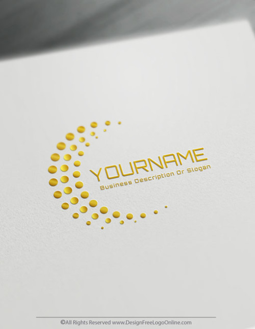 Create Tech Logos For Free – Digital Network Logo Template